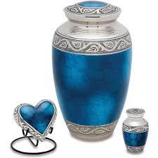 discount urns urns direct 2u grecian blue token urn set of 2 walmart