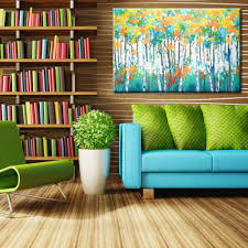 aliexpress com buy landscape birch forest oil paintings modern aliexpress com buy landscape birch forest oil paintings modern large wall canvas art hand painted wall mural posters decoration no frame from reliable