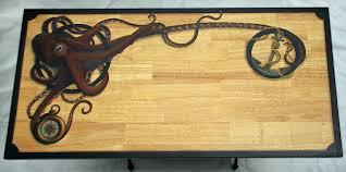 steampunk furniture furniture u2013 hand painted steampunk octopus desk u2013 beth covert