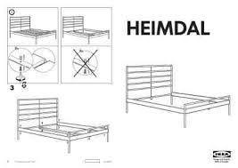 Heimdal Bed Frame Ikea Heimdal Bedframe Furniture Manual For Free Now