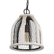 hanging light not hardwired journee home hugo wood iron 12 inch hardwired pendant l free