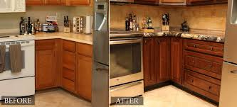 Before And After Kitchen Cabinet Painting Refacing Kitchen Cabinets Before And After Edgarpoe Net