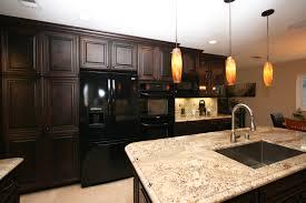birch wood alpine raised door dark cherry kitchen cabinets