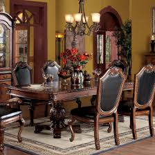 acme chateau de ville double pedestal dining table in cherry ac