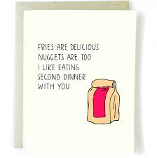 day cards for him s day card food card fast food