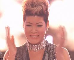 tessanne chin new hairstyle tessanne chin is crowned winner on the voice as adam levine