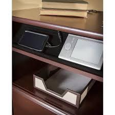 L Shaped Desk With Bookcase Barrel Studio Hillsdale 3 L Shaped Desk Set With Hutch