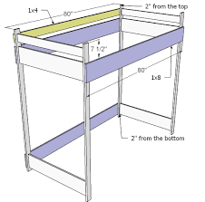 fancy girls loft bed plans and ana white how to build a loft bed