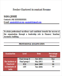 resume format doc for fresher accountant 33 accountant resumes in doc free premium templates