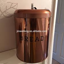 kitchen storage canister copper effect retro food canisters u0026 bread bin storage set 4 pc
