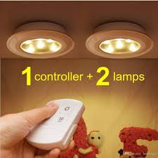 battery operated under cabinet lighting 2017 misso stick on portable wireless remote control puck light
