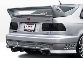 2000 honda civic spoiler 1996 2000 honda civic 2 4 door avenger rear bumper cover urethane