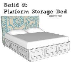 cal king platform storage bed free plans sawdust
