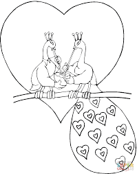 peacock and peahen in love coloring page free printable coloring