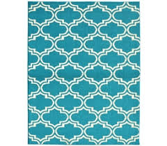 bordeaux college rug teal and white