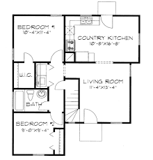 traditional style house plan 3 beds 1 00 baths 1032 sq ft plan