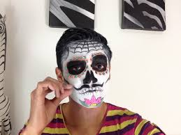 men halloween makeup tutorial maquillaje de catrin sugar skull man makeup tutorial