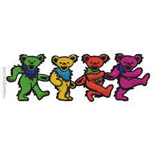 grateful dead dancing bears four patch me pinterest