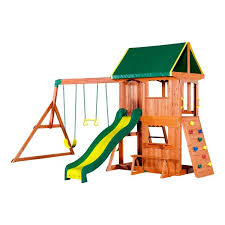 Backyard Swing Sets For Kids by Somerset Wooden Swing Set Playsets Backyard Discovery