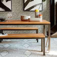 Steel Frame Desk Box Frame Dining Table Wood West Elm