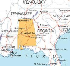 map usa alabama map of alabama in the usa