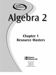 worksheet glencoe mcgraw hill algebra 1 answers worksheets