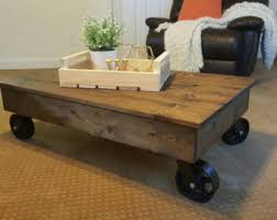 Industrial Rustic Coffee Table Industrial Coffee Table Etsy