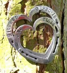 heart shaped horseshoes entwined heart shaped horseshoes unicorn shoes blacksmith