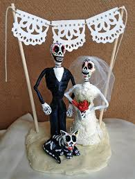 day of the dead cake toppers dia de los muertos wedding cake topper from struck