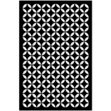 Moorish Design Acurio Latticeworks 1 4 In X 32 In X 4 Ft Black Moorish Circle