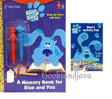 blue clue coloring book ebay