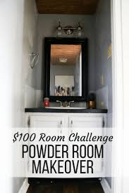 100 room challenge reveal powder room paint powder room and