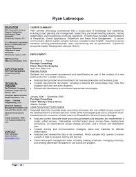 Ba Roles And Responsibilities Sample Resume Business Analyst Resume For Your Job Application