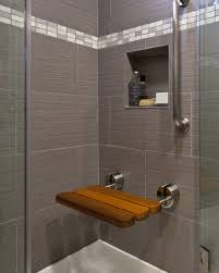 Wooden Shower Stool Bathroom Design 2017 Bathroom Amusing Rectangle Brown Wall