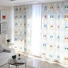 Owl Curtains For Nursery 1x Grommet Drapery Drape Glass Curtain Nursery Children Room