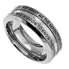 bible verse rings god grant me the serenity ring stainless steel thick band with