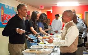 yesterday president obama fed veterans the homeless while