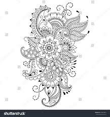 henna tattoo flower template mehndi style stock vector 573873649