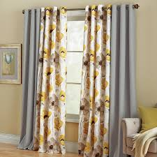 poppy printed cotton grommet panel curtains u0026 drapes brylanehome