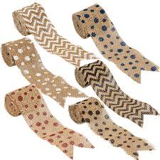 burlap ribbon bulk floral garden printed burlap ribbon 3x108 in spools at