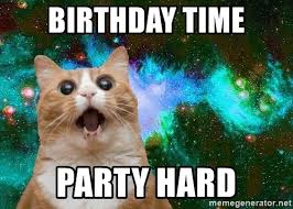 Meme Party Hard - birthday time party hard party party space cat meme generator