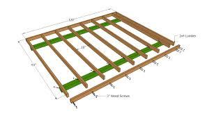 floor shed floor plans