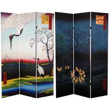 asian room dividers 6 ft printed 3 panel room divider can tarot the home depot
