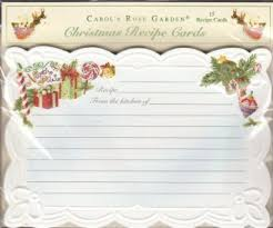 carol wilson christmas cards buy carol wilson 15 ct embossed christmas recipe cards pole