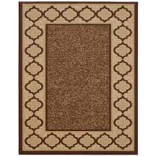 anne collection trellis border design brown 5 ft x 6 ft 6 in