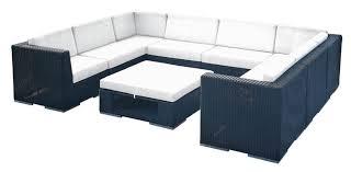 home decor sofa set furniture rattan small u shape living room sofa set with blackand