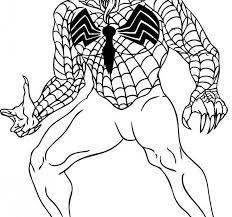 spiderman coloring pages venom spider man coloring pages venom