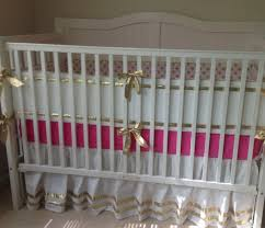 Bright Pink Crib Bedding by Baby Bedding Sets Gold Creative Ideas Of Baby Cribs