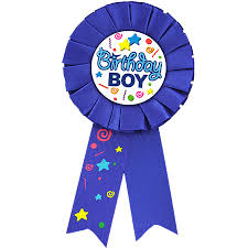 birthday ribbon badge award ribbon birthday boy the party stop