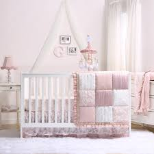 Pink And Grey Nursery Curtains by Baby Crib Bedding